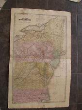 1829 ORIGINAL Map of New York, Pennsylvania, Virginia, Maryland, N. Carolina
