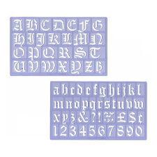 Buchstaben 30 mm Old English Alt-Deutsch altdeutsche Schrift Zahlen Ziffern 3 cm