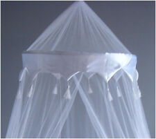 New White Mosquito Fly Canopy Net Netting For Single Double King Bed UK
