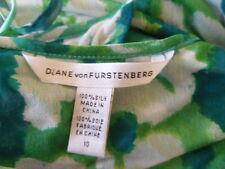 DIANE VON FURSTENBERG SILK DRESS 10 12 LAYERS FLATTERING  STRETCHY