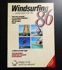1986 Vintage WINDSURFING Buyer's Guide WIndsurfer catalogue Sailboard models 80s