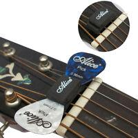 1PCS Black Guitar HeadStock Pick Holder Rubber + 2Pcs Mixed Guitar Picks jp