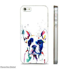 FRENCH BULLDOG WATER COLOUR ART CLEAR CASE FITS IPHONE 7 8 SE PLUS & X dog.