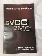 1976 Honda Civic CVCC and Wagon 18-page Original Car Sales Brochure Original