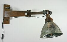 Wandlampe Metall Holz Industrielampe Fabriklampe Industrial recycelt antik Loft