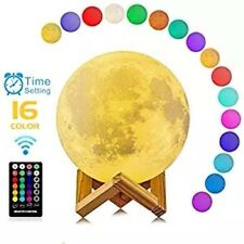 3D Printing Moon Lamp USB 16 Colors LED Night Light Moonlight Touch Color Change