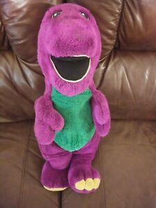 """Vintage 1990s Jumbo Barney Purple Dinosaur Stuffed Plush 24"""""""