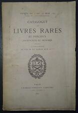 Catalogue des livres rares et précieux du Baron ACH. S****** / 1890