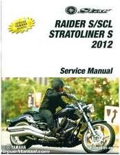 2012 Yamaha Xv19 Raider Roadliner S Stratoliner S Motorcycle Service Manual :.