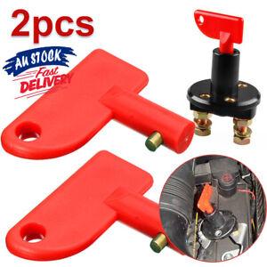 2PCS Battery Car Off Spare Switch Universal Key Cut Power Isolator Kill
