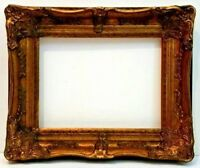 """12 X 16  BEAUTIFUL CARVED CORNER ANTIQUE GOLD LEAF PICTURE FRAME 3 3/4"""" WIDE NEW"""