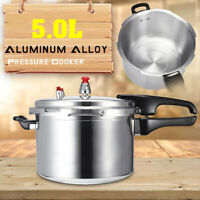 22cm 5L Aluminum Alloy Pressure Cooker Kitchen Tools Commercial Cookware AU !