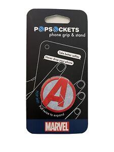New Popsockets Avengers Logo Phone Grip & Stand Marvel Comics Popsocket