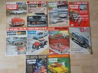 10 Vintage 1962 Motor Trend Car Automobile Magazines Ford Chevy Indy Racing