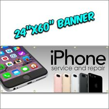 iPHONE REPAIR BANNER iphone android tablet computer we fix phones colors 24x60