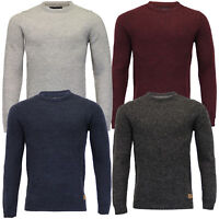 Mens Wool Mix Jumper Threadbare Knitted Sweater Pullover Top Waffle Winter New
