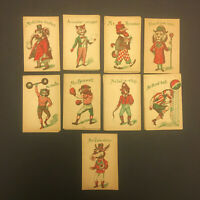Antique Victorian Animal SNAP Game Cards COMPLETE SET 36 Cards SCARCE RARE TOY