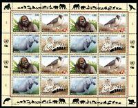 UNO Genf ZD-Bogen MiNr. 227-30 postfrisch MNH gefährdete Tierarten (Z4565
