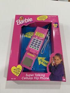 Barbie Super Talking Cellular Flip Phone (1995) Mattel Vintage Toy CIB