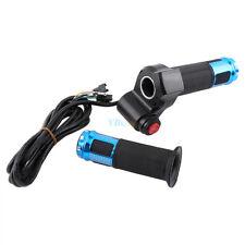 Twist Throttle Grips 3 Speed Switch Digital Display Screen Bike Handle for Ebike Blue