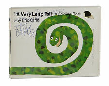 A Very Long Tail ~ SIGNED by ERIC CARLE ~ First Edition 1st ~ Rare Folding Book