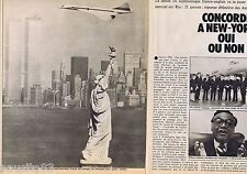 COUPURE DE PRESSE CLIPPING 1976 CONCORDE à NEW YORK  (4 pages)