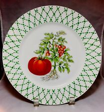 """""""The Vegetables""""rare replacement /decorative Tomato 10 1/4"""" dinner plate Taitu"""