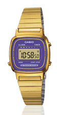 Casio Classic Ladies Purple Dial Gold Plated Digital Watch LA670WEGA-6D.  VRIY
