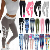 Womens Yoga Workout Pants Gym Jogging Fitness Leggings Elastic Athletic Trousers