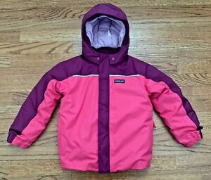 Patagonia Girls Pink Insulated Snowbelle Jacket Coat Hooded Size 5T 5