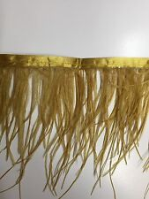 ostrich Feather Fringe ,sold by yards ,6/7 inches lenght ,gold color