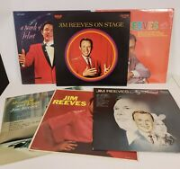 Jim Reeves 6 LP Collection Moonlight and Roses, My Friend, On Stage, Touch of +