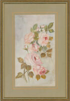 Eve Cosgrove - Framed 20th Century Watercolour, Study of Pink Roses
