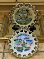 WASHINGTON DC SOUVENIR LOT 2 PLATE VINTAGE CAPITOL LINCOLN JEFFERSON WHITE HOUSE