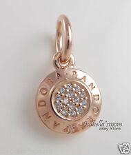 Genuine PANDORA SIGNATURE Rose GOLD Plated/CZ Pendant/Dangle/Charm 380359CZ NEW
