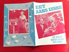 "Danish movie program.""Invitation""1952.Van Johnson.Dorothy McGuire.Ruth Roman.."