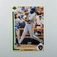 1991 Upper Deck Baseball Card MLB Dave Parker Milwaukee Brewers  #274
