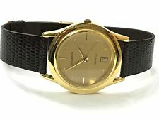 Vintage Helbros Gold Plated  Quartz  Watch Very Elegant  New Old Stock(H84551Q)