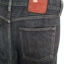 Vintage Sanforized LEVI 503 Jeans Denim Poland Black Levis Distressed 34 x 28