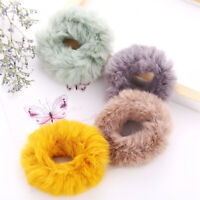 Fashion Hair Rope Ring Tie Scrunchie Ponytail Women Holder Flannel Hair Band