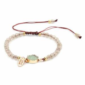 Adjustable Bracelet Crystal Jewellery Healing Stones Bead Balance Reiki