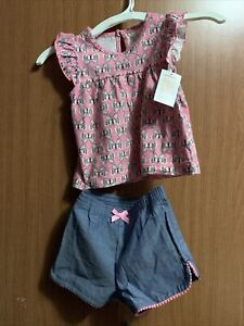 Toddler Baby Girl Size 18m Shirt And Shorts
