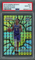De'Aaron Fox 2019 Panini Mosaic Center Stage Basketball Prizm Card #27 PSA 10