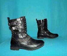 bottines boots IKKS cloutées en cuir noir p 39 fr