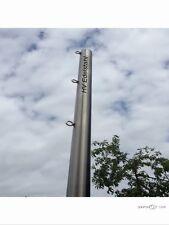 Sonnensegelmast Sonnensegel  Edelstahl 60 mm 2,5 m Mit 3 Ösen Zum einbetonieren