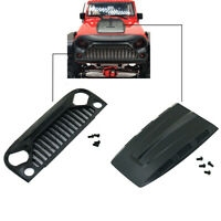 Air Inlet Grille Cover & Engine Hood for 1/10 SCX10 Jeep Wrangler Rubicon RC Car