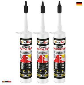 Bitumenkleber 3 x 310 ml Dichtstoff Dachdicht Bitumen Dichtmasse Schindelkleber