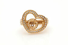 Estate $4000 1ct VS G Diamond 18k Yellow Gold HEART Happy Ring MOVES