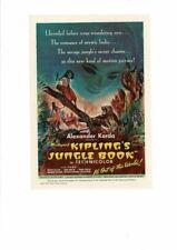 VINTAGE 1942 RUDYARD KIPLING'S JUNGLE BOOK MOVIE LEOPARD TIGER INDIA AD PRINT