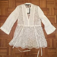 55b5d648 Zara White Eyelet Dress Beach Cover Up NWT! SOLD OUT!